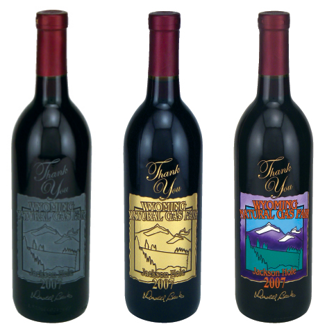Deep Hand Etched Wine Labels