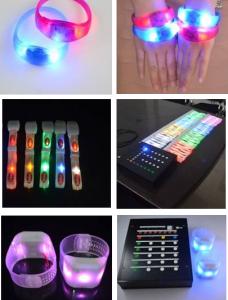 Controllable LED Bracelets