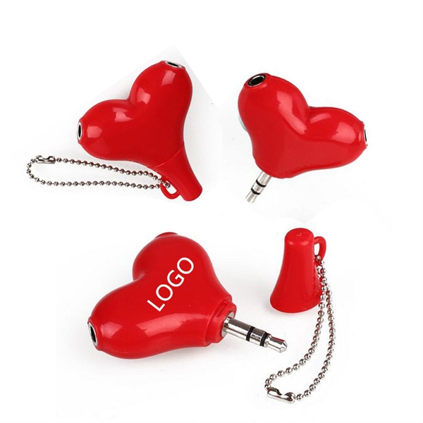 valentine's day headphone splitter