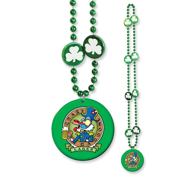 St Patrick's day medallion bead